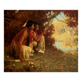 Hunting for Deer, by Eanger Irving Couse Posters