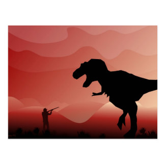 Hunting for Dinos Post Card