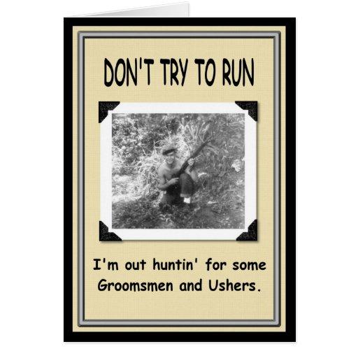 Hunting for Groomsman / Usher ? Card