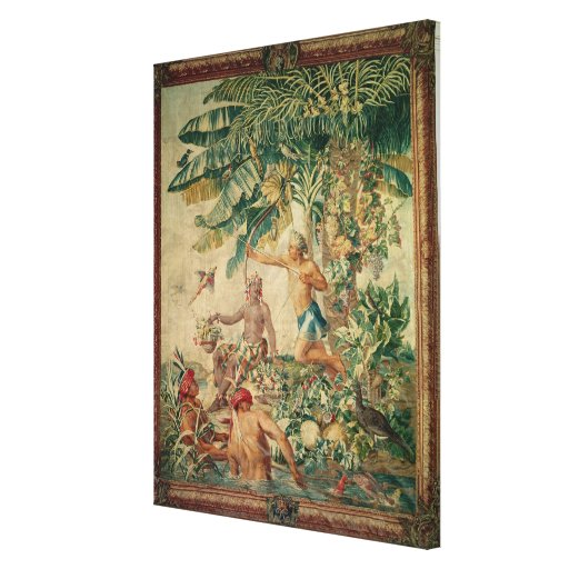Hunting, from the 'Tenture des Nouvelles Gallery Wrapped Canvas
