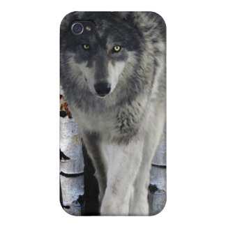 Hunting Grey Wolf Wildlife-supporter iPhone Case iPhone 4/4S Cases