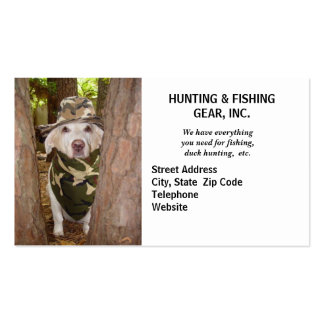 Hunting Guide/Gear Pack Of Standard Business Cards