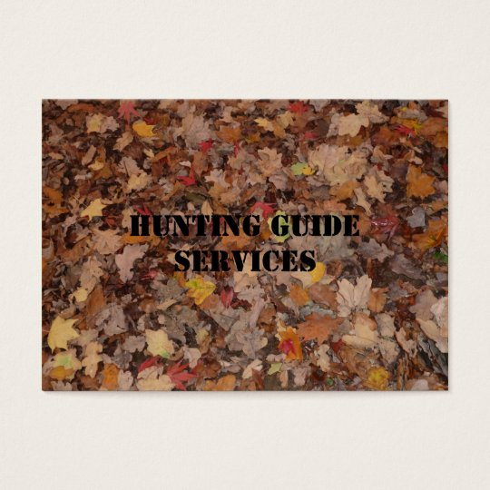 Hunting Guide Services Business Card