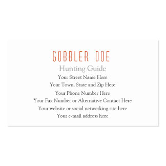 Hunting Guide Two-Sided Pack Of Standard Business Cards
