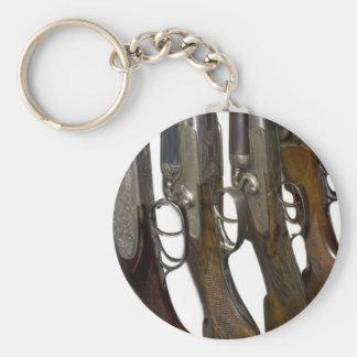 hunting guns basic round button key ring