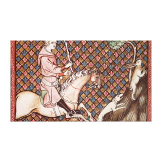 Hunting Hares, from Ovide Moralise Canvas Print