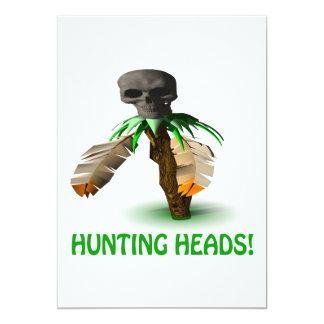 Hunting Heads 13 Cm X 18 Cm Invitation Card