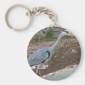 Hunting Heron Keychain