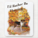 hunting hound dog mouse pads