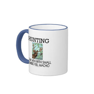 Hunting. How men with small penises feel macho. Mug