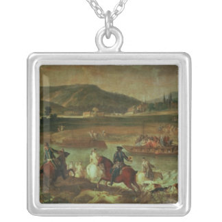 Hunting in the Forest at Compiegne Silver Plated Necklace