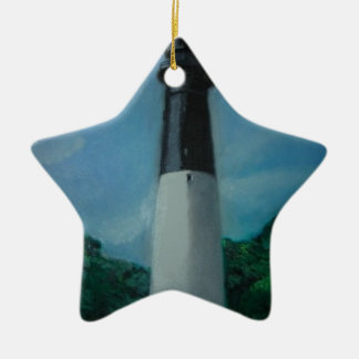 Hunting Island Lighthouse Ceramic Star Decoration