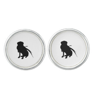 Hunting Labrador Retriever Silhouette Love Dogs Cuff Links