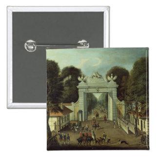 Hunting Lodge in Potsdam, c.1735 15 Cm Square Badge