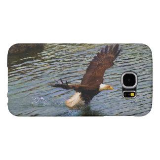 Hunting Mature Bald Eagle Wildlife Art Samsung Galaxy S6 Cases