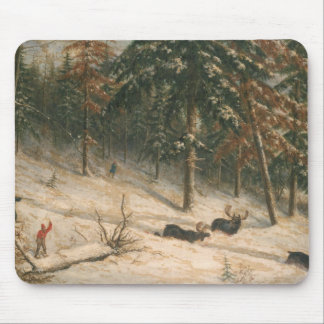 Hunting Moose Mouse Mat