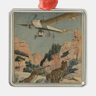 Hunting panthers from an airplane in Texas Christmas Ornament