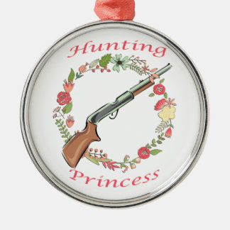 Hunting Princess Silver-Colored Round Decoration