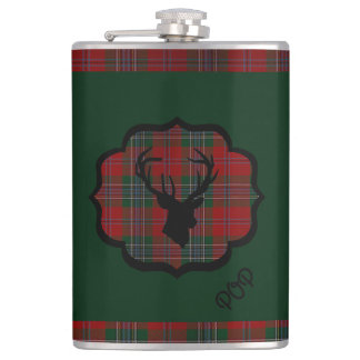 Hunting  Red Tartan Flasks