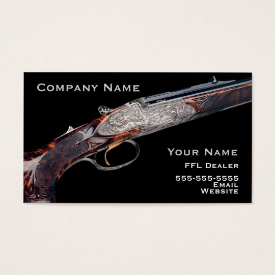 Hunting rifle business card 2