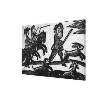 Hunting Scene, 'A Book of Roxburghe Ballads' Canvas Print