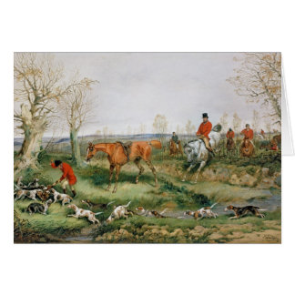 Hunting Scene Card