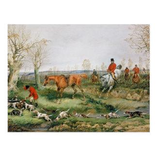 Hunting Scene Postcard