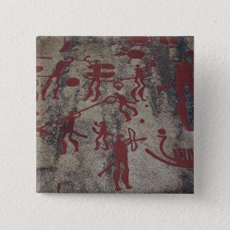 Hunting scenes 15 cm square badge