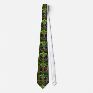 Hunting Stewart Tartan And Celtic Tree Of Life Tie