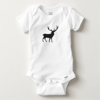 Hunting Style Stag 100% Cotton Baby Onesie