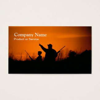 Hunting sunset business card
