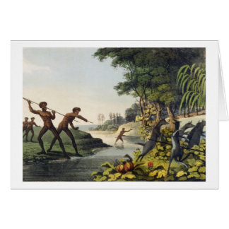 Hunting the Kangaroo, aborigines in New South Wale Card