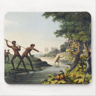 Hunting the Kangaroo, aborigines in New South Wale Mouse Pad