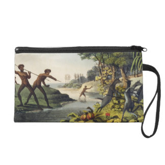 Hunting the Kangaroo, aborigines in New South Wale Wristlet Clutch