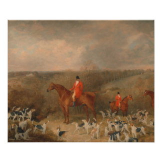 Hunting With Dogs and Horse Famous Oil Painting Photo Art