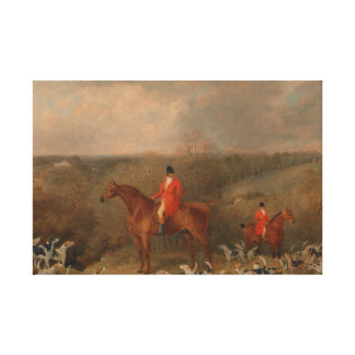 Hunting With Dogs and Horse Famous Oil Painting Stretched Canvas Prints