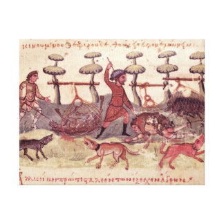 Hunting with Nets Canvas Print