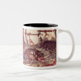 Hunting with Nets Two-Tone Coffee Mug