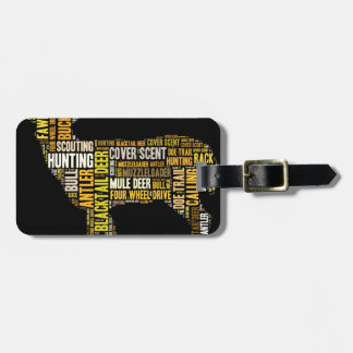 Hunting Word Cloud Luggage Tag