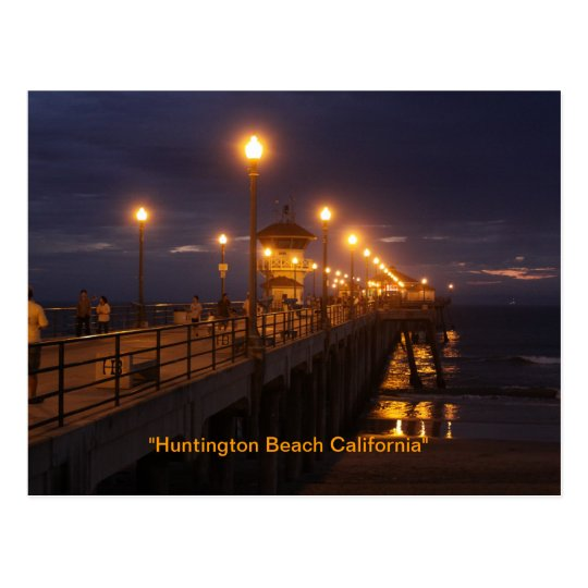 """Huntington Beach California"" Postcard"