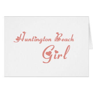 Huntington Beach Girl tee shirts Cards