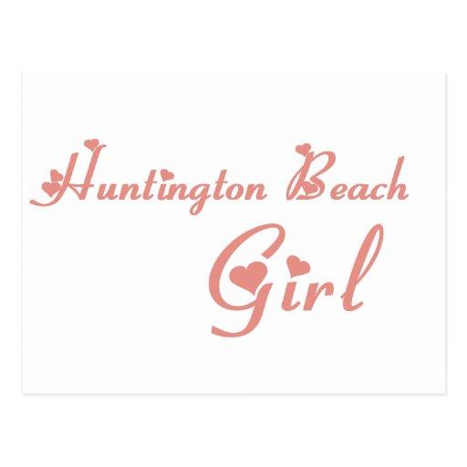 Huntington Beach Girl tee shirts Post Cards