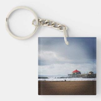 Huntington Beach Pier, CA Key Ring
