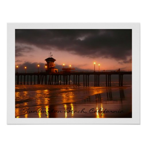 Huntington Beach Pier  California USA Poster
