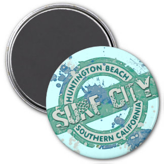 Huntington Beach Southern California Surf City 7.5 Cm Round Magnet