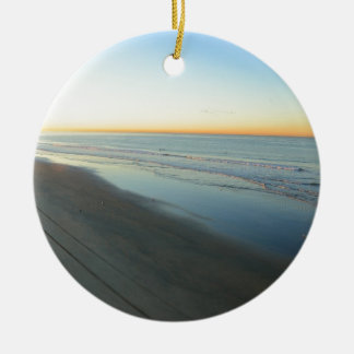 Huntington Beach Sunrise at the beach Christmas Ornament