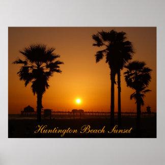 Huntington Beach Sunset Print