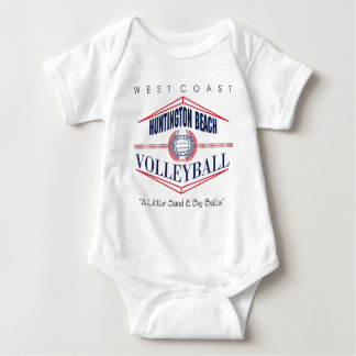 Huntington Beach Volleyball Baby Bodysuit