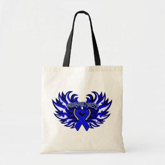 Huntington Disease Awareness Heart Wings Tote Bag