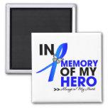 Huntington Disease Tribute In Memory of My Hero Refrigerator Magnets